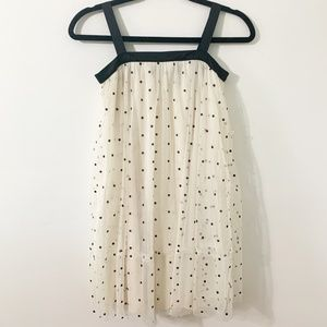 Gap Polka Dot Tulle Overlay Polyest Underlay Dress